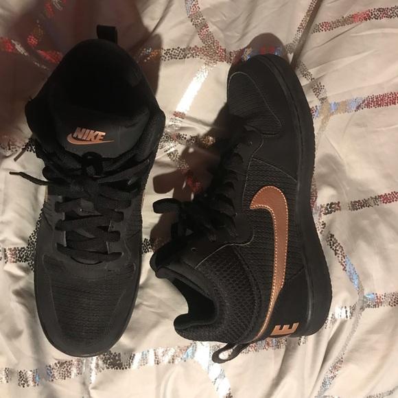 Nike Shoes Black And Rose Gold Nikes Poshmark